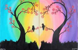 couples' rainbow tree
