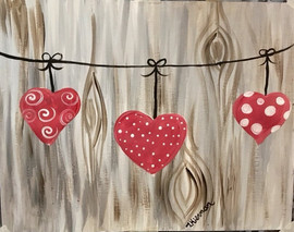 hearts clothesline