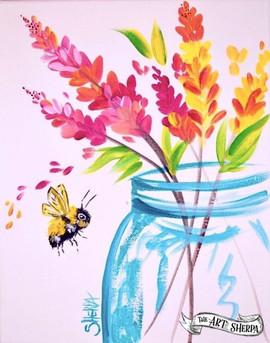bee and jar