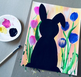 bunny and tulips