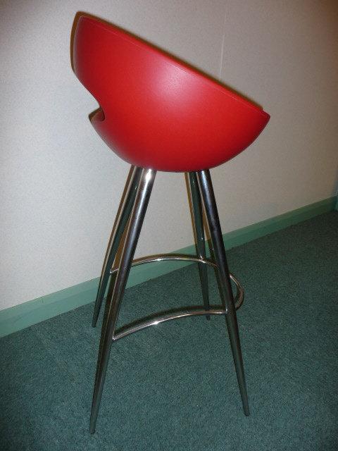 Red &retro funky chrome bar stool