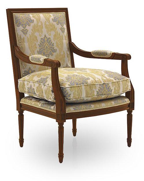 Louis Squareback Armchair - Open Sides