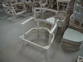 Raw Italian chair frames stored in our warehouse at the Furnital base in Wellingborough!