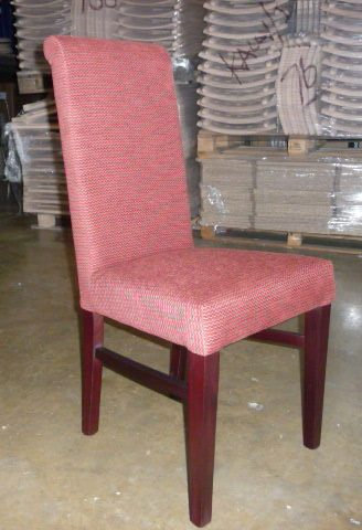 Nicole Riccio C chair - Finished  x 1 Red pattern)