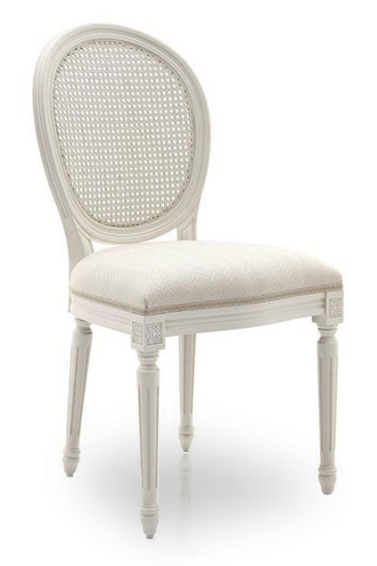 Louis Oval Cane Back Chair