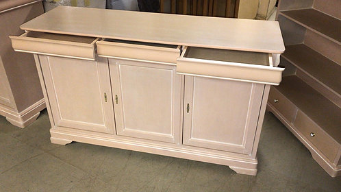 Pink 3 door sideboard