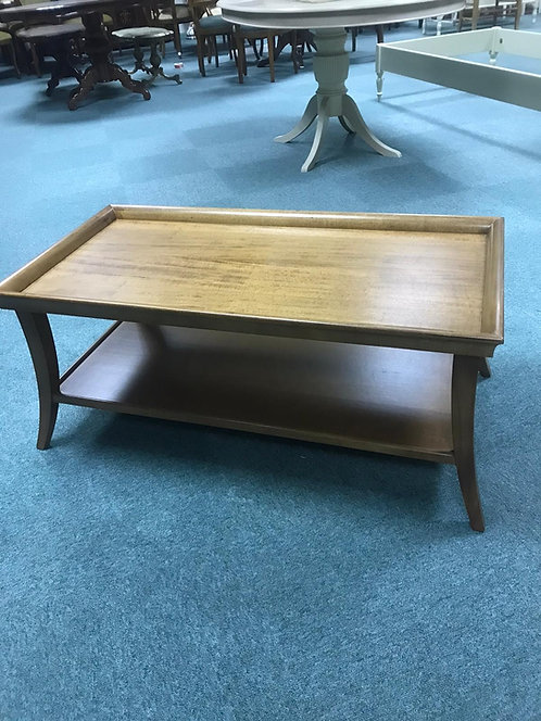 Plain rectangular coffee table with under shelf