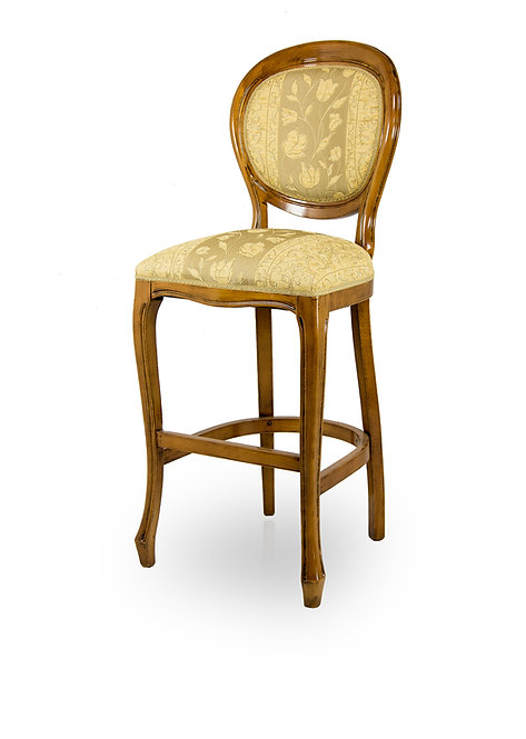 Oval Padded Spoonback Bar Stool