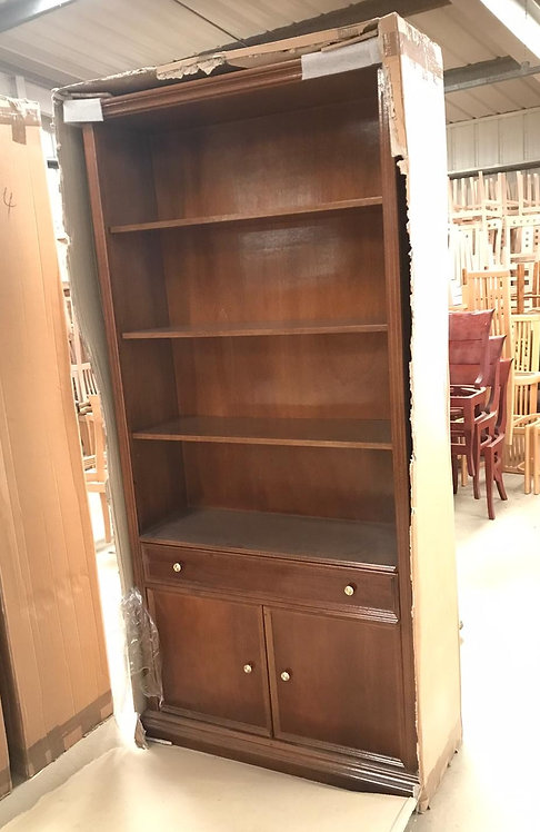 Plain bookcase with drawer & cupboard
