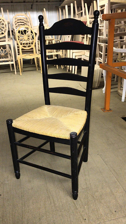 Rustic Farmhouse high back chair - Finished Black