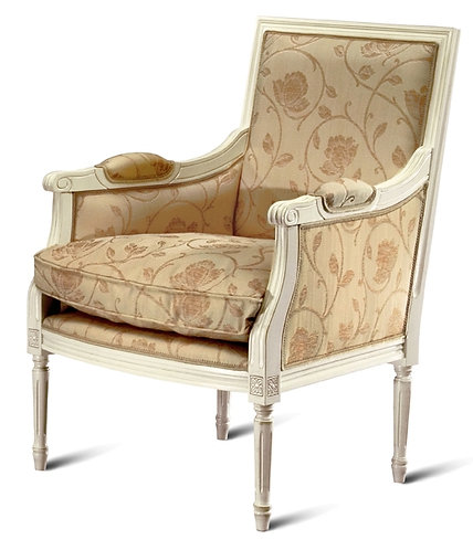 Louis Squareback Armchair - Filled Sides