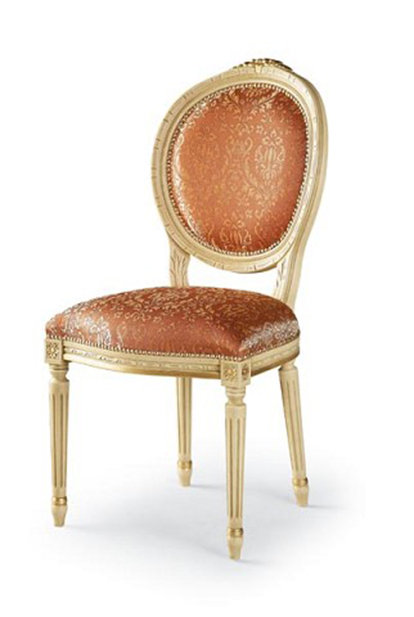 Louis Oval Carved Top Chair