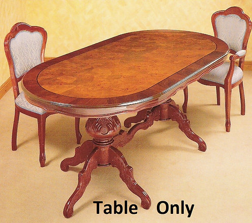 Dining Table only  2m Oval Radica Burr effect pattern