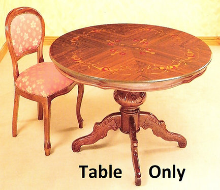 Dining Table only 1.25cm Round Inlaid