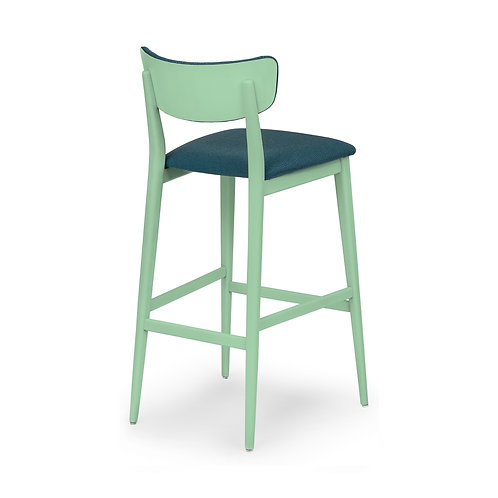 Isabella Sg TI Bar Stool - Uphols.  Seat & Back Upholstered