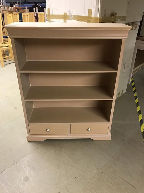 Pink Bookcase with 2 drawers