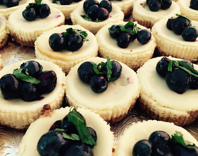 Petite Lemon Cheesecakes