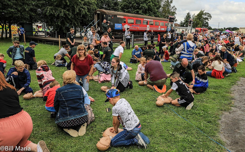 Have a go at CPR at Rescue Day 2019.