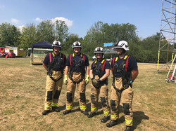 Rescue Day 2018 - Team ready to do Ladder Climb