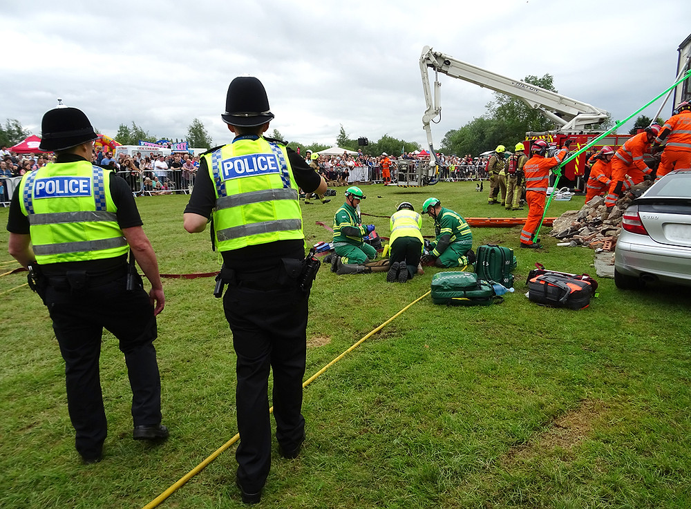 Emergency teams deal with mock house explosion at Rescue Day 2019