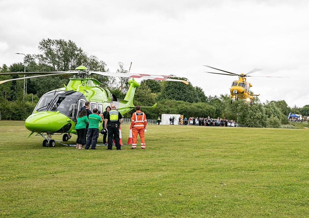 The Children's Air Ambulance & Lincs & Notts Air Ambulance at Rescue Day 2019.