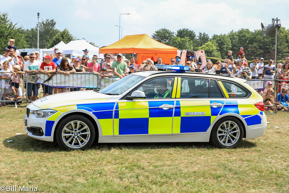 Humberside Police car chase at Rescue Day