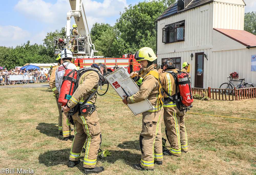 """Emergency teams at Rescue Day """"house fire demonstration"""""""