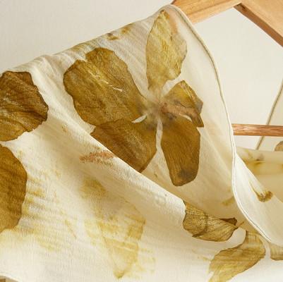 Cotton silk scarf