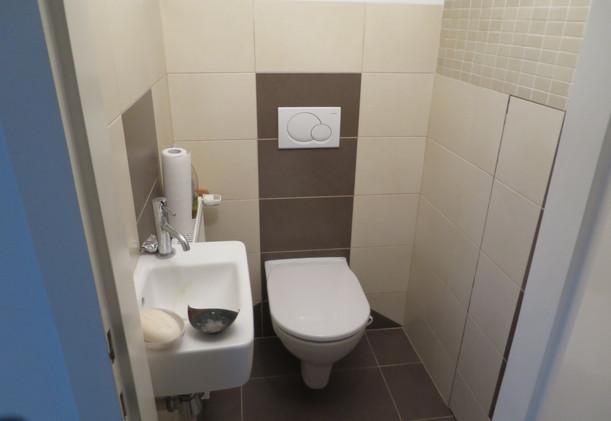 Schwarzlackenau WC im Obergeschoß