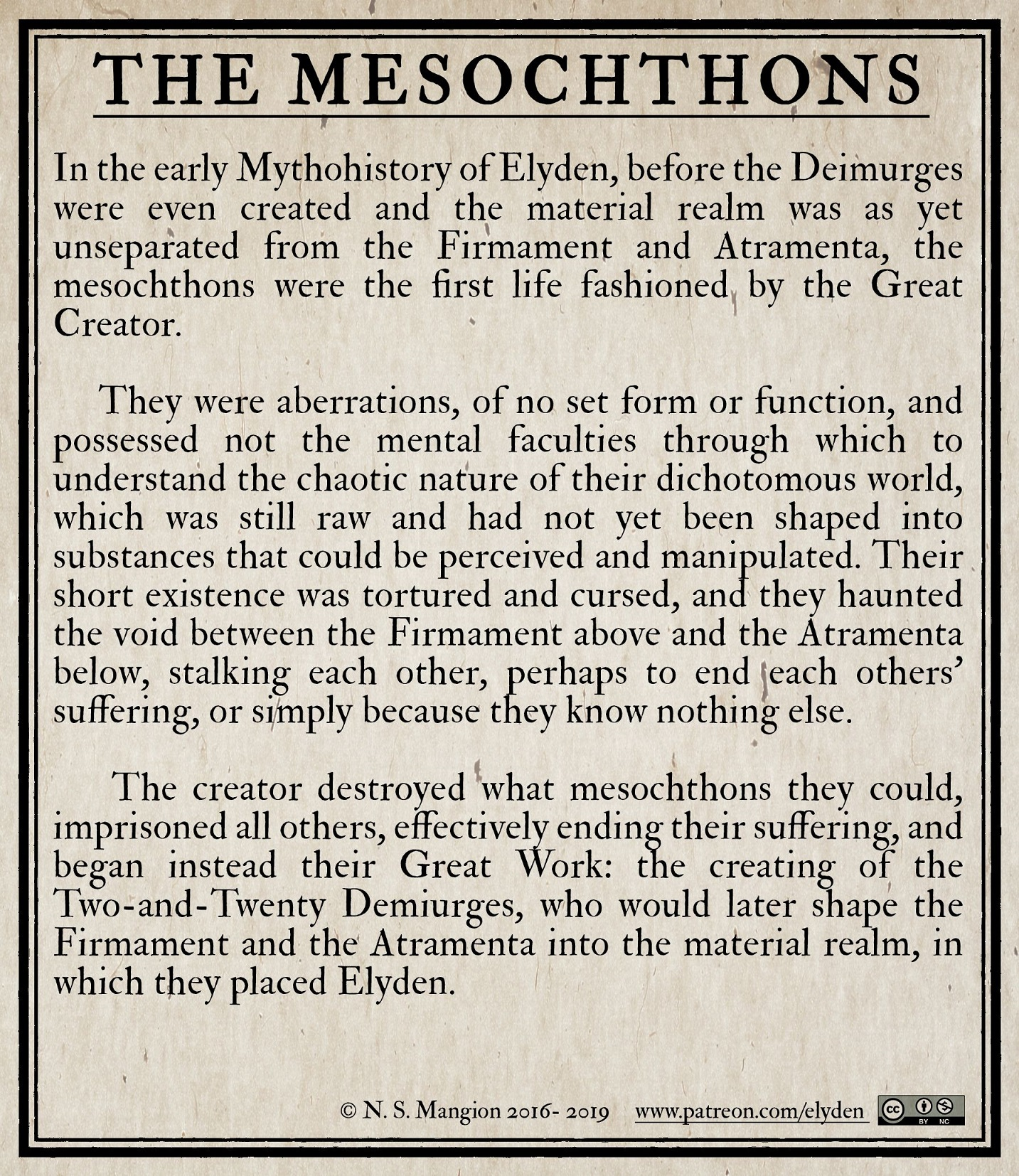 the Mesochthons