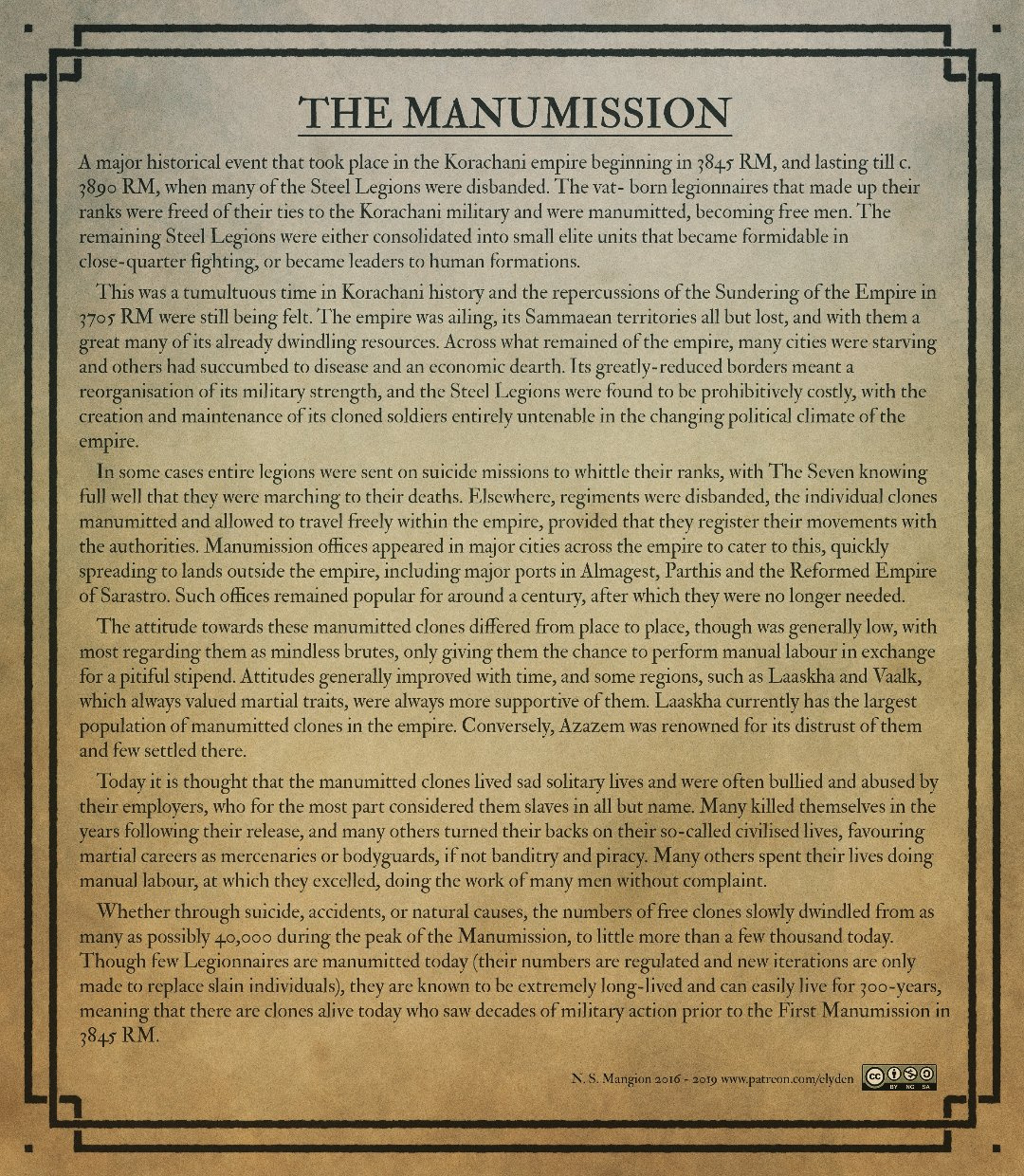 the Manumission of the Clones