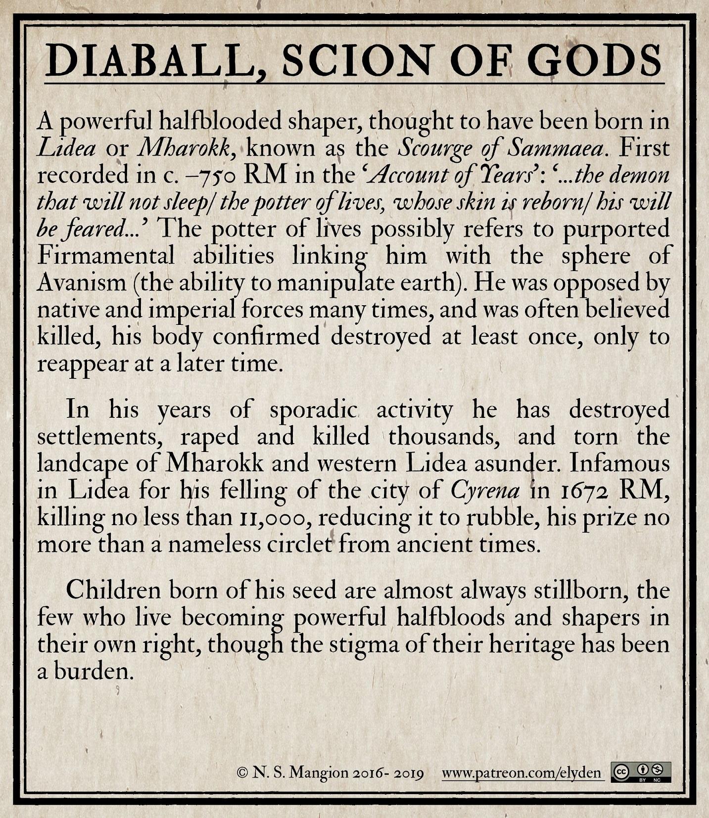 Diaball,  Scion of Gods