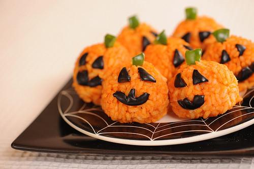carbassetes d'arròs tardor nutrició saludable halloween
