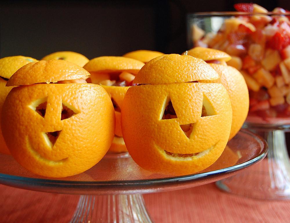 carbassetes de macedònia de fruites tardor nutrició castanyada halloween