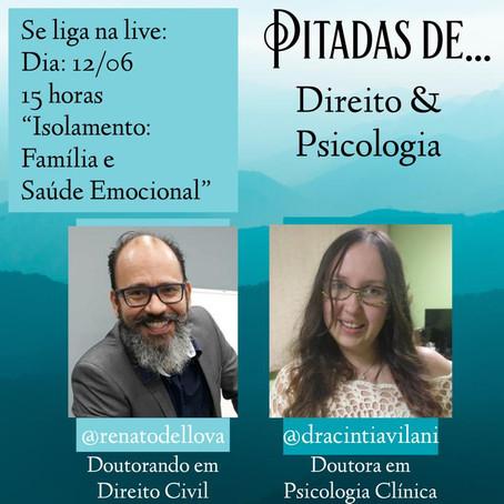 Participação em live do Pitadas de...