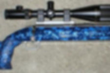 Blue custom lapua rifle speckled