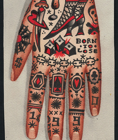 hand tattoo concept