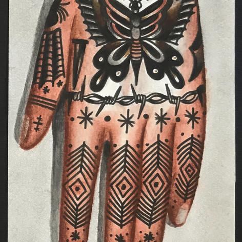 tattoo hand concept