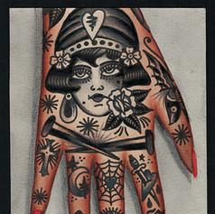 right hand tattooed concept