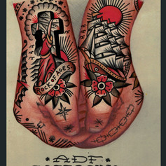 hands tattooed concept