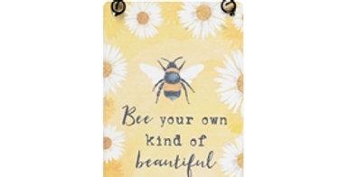 Bee Mini Wall Plaque