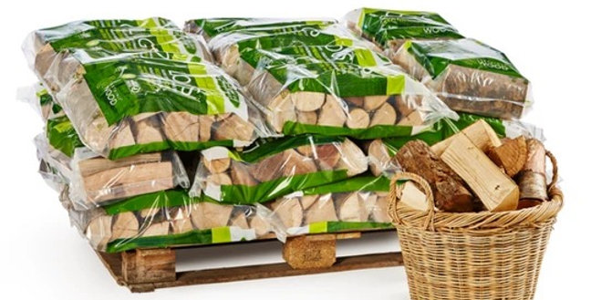 Kiln Dried Log Bags pallet choice of 30, 50 or 80 bags