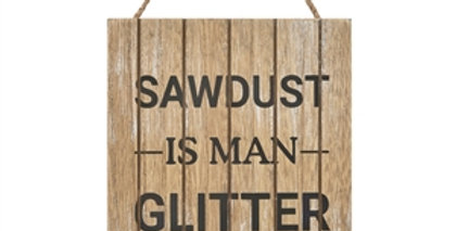 Man Glitter Wall Plaque