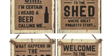 Beer/Shed/Garage/Man Cave Wall Plaque