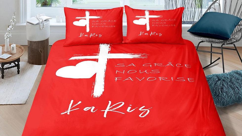 Parure de lit collection Sa grâce nous favorise