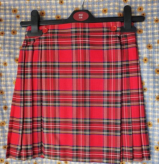 Edzell school red tartan Kilt style