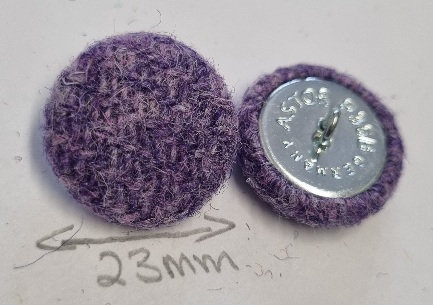 Lilac Harris Tweed buttons x6