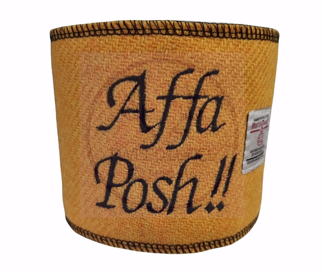 Affa Posh. Harris Tweed loo roll wrap