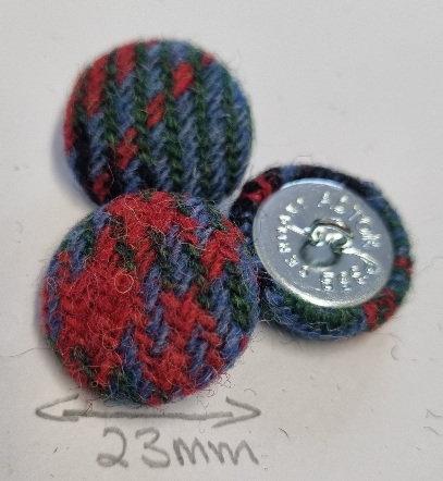 MacDonald Tartan Harris Tweed buttons x6