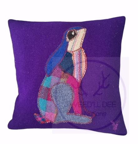 Harris Tweed cushion..Hare